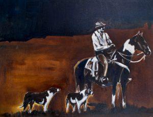 Western Duo Painting Series 2017 - Del Curfman